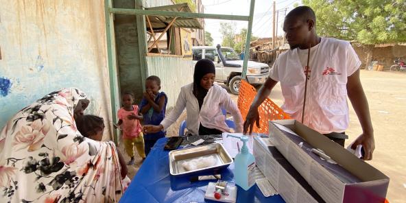 Campagne de vaccination de Médecins sans frontières à Niamey