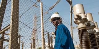Centrale électrique de la Senelec de Bel Air, zone industrielle de Dakar.