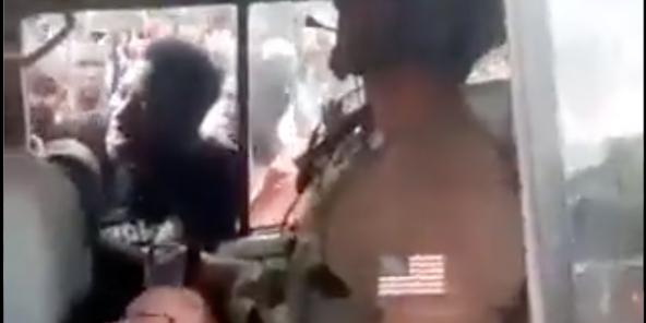 Capture d'écran de la vidéo diffusée par a.Conakry Live