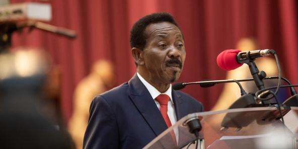 Christophe Mboso N'kodia, le président de l'Assemblée nationale.