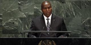 Faustin-Archange Touadéra à l'ONU en septembre 2019