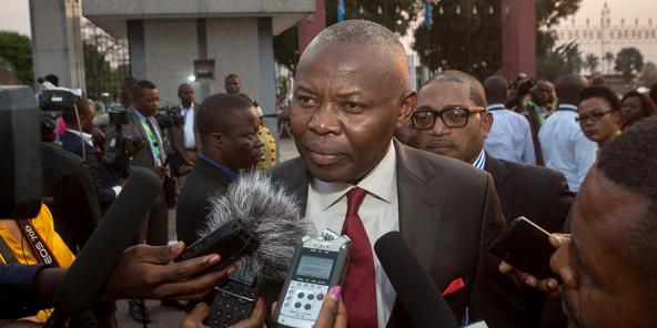 Vital Kamerhe, face aux journalistes à Kinshasa, le 17 septembre 2016.