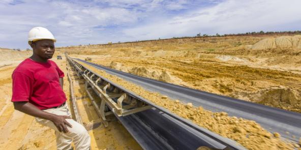 Mine de Phosphate dans le sud du Togo.