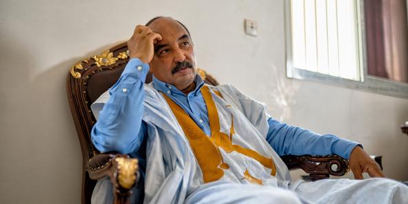 L'ancien président mauritanien Mohamed Ould Abdelaziz, à Nouakchott en avril 2021.