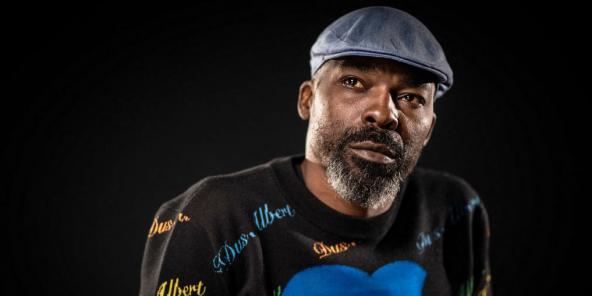 Le rappeur camerounais Gaston Abé, dit Valsero, le 13 septembre 2021 à Paris.