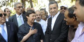Saïd Bouteflika et Ali Haddad, alors président du Patronat algérien (FCE), en juillet 2017, à Alger