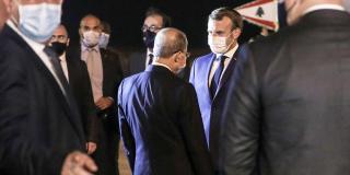 Emmanuel Macron à Beyrouth, le 31 août 2020