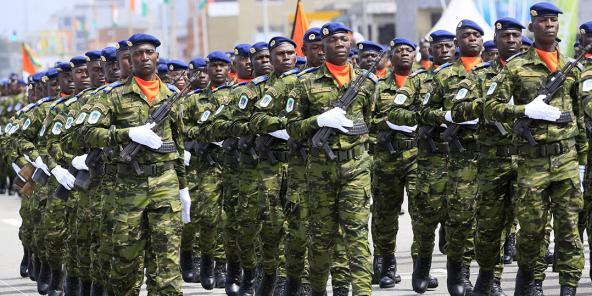 Des soldats ivoiriens lors de la fête de l'Indépendance, le 7 août 2019.