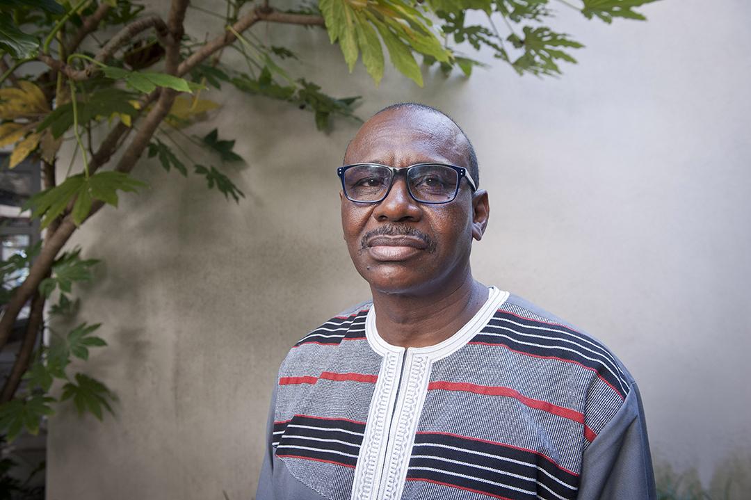 Moussa Diallo, officier à la retraite, ancien aide de camp de Thomas Sankara, ancien commandant adjoint de la gendarmerie nationale, en banlieue parisienne, le 8 septembre 2021.